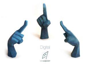 Digital, 2014 (argile, gomme-laque)