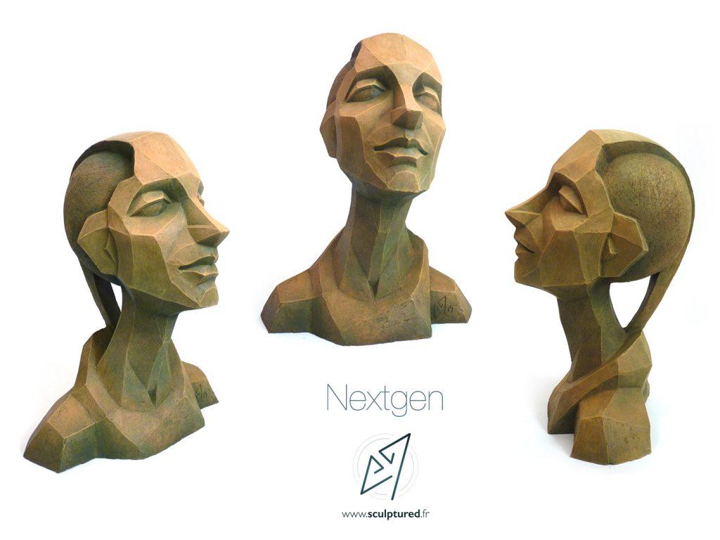 Nextgen, 2015 (argile, gomme-laque)