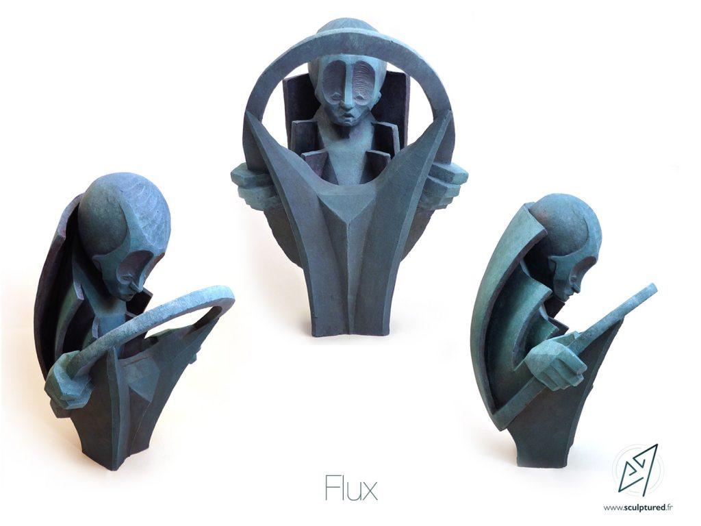 Flux, 2016 (argile, gomme laque)