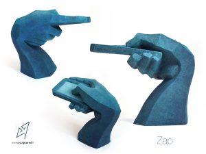 Zap, 2016 (argile, gomme-laque)