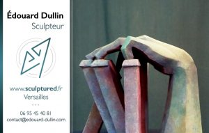 carte de visite Édouard Dullin (sculptured.fr)