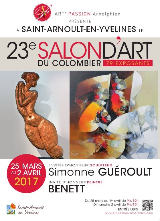 SALON D'ART DU COLOMBIER SAINT ARNOULT EN YVELINES 2017 AFFICHE