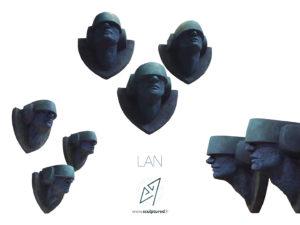 """""""LAN"""" 2018 (argile, gomme-laque)"""