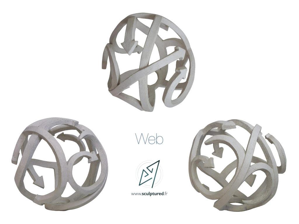 """""""Web"""" 2018 (argile, gomme-laque)"""