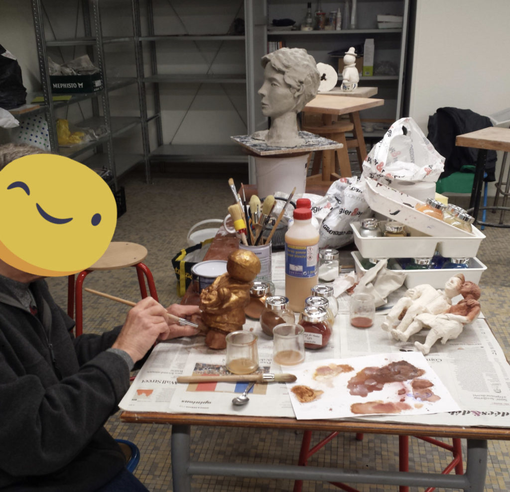 cours adultes patine sculpture
