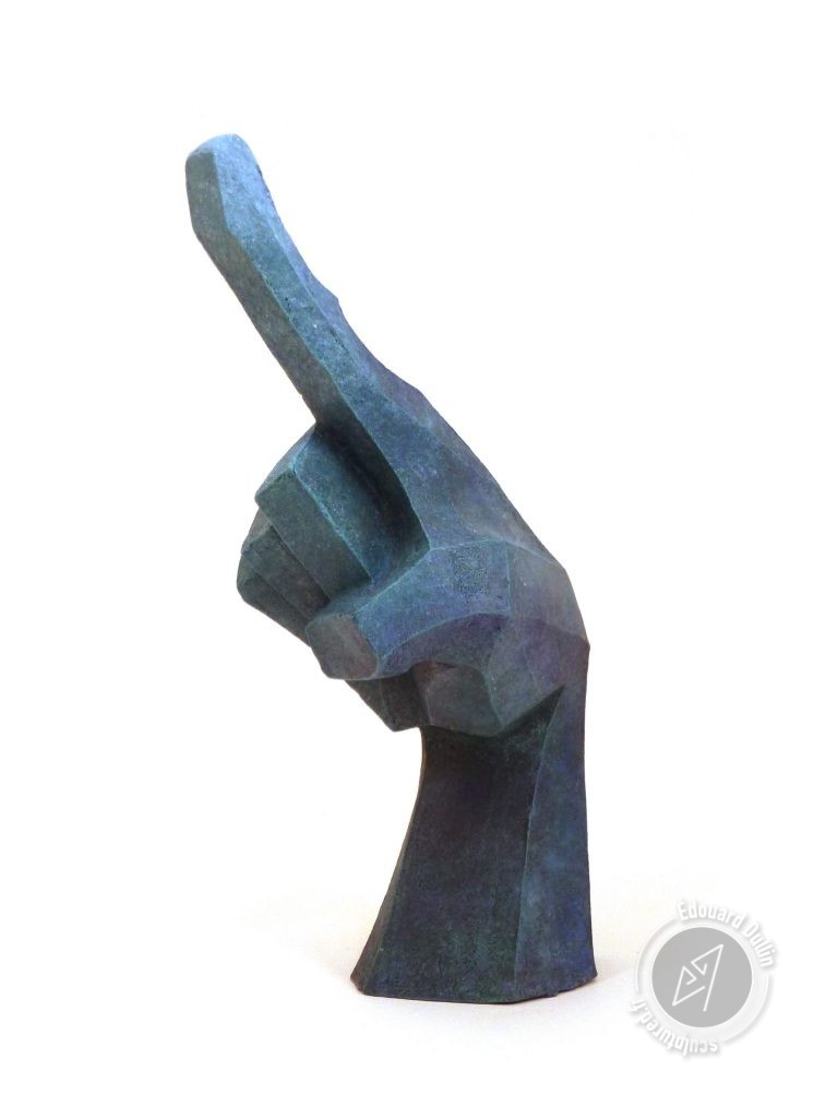 Argile patiné (faïence, gomme-laque)