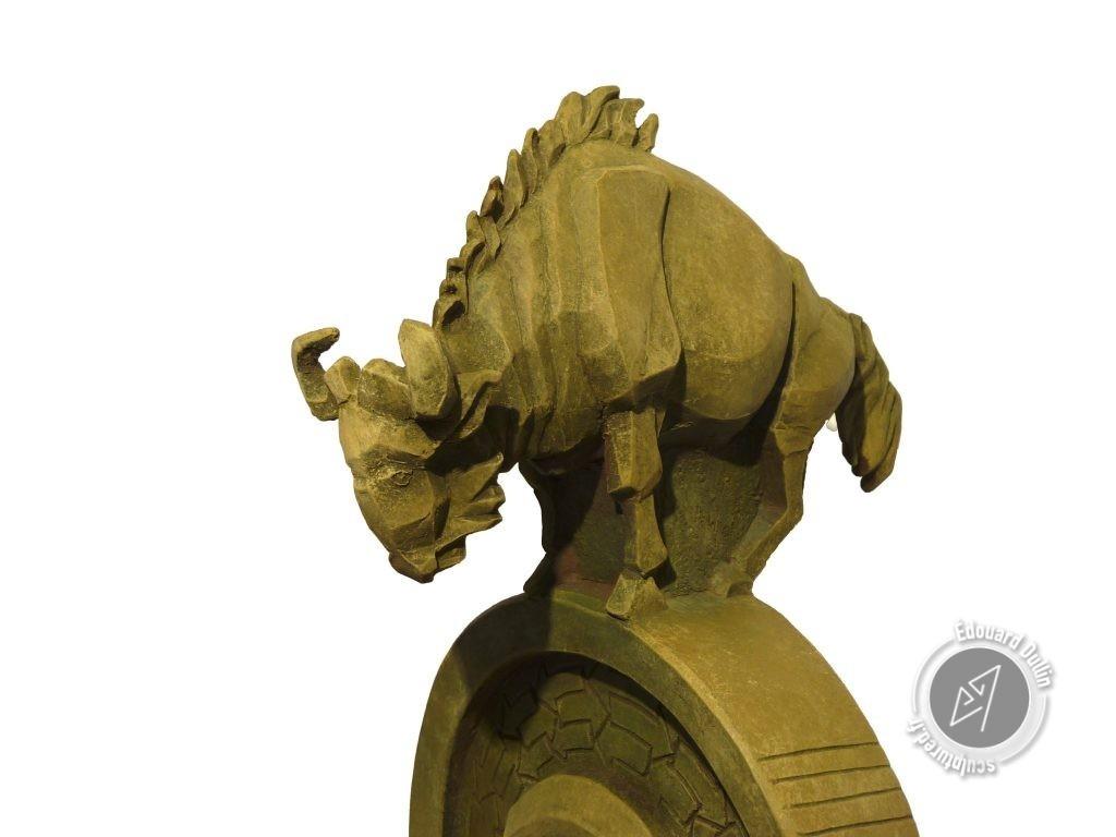 GNU Project, 2017 (argile, gomme-laque)