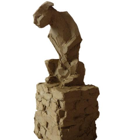 """Cunda's Cat"" 2018 (argile)"